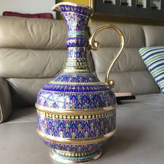Authentic benjarong water pitcher handcrafted in thailand