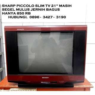 """Tv 21"""" Sharp Piccolo SLim N FLat Mulus Masih SeGel Jernih Bagus KATAPANG SOREANG"""