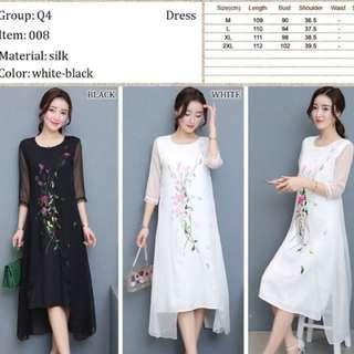 Plus size CNY dress