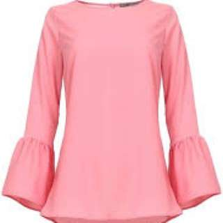 POPLOOK Dawn Bell Sleeve Blouse