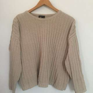 Super Soft Knit Jumper Nude Beige Cropped All About Eve