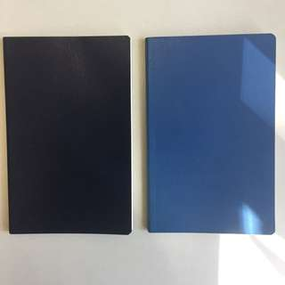 Moleskin ruled journal ( Navy blue and Volant )