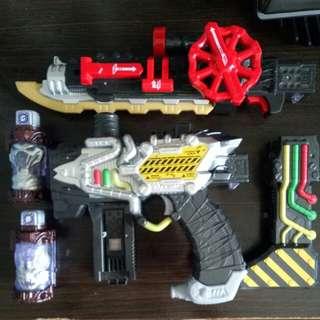 [Selling Cheap]DX Kamen Rider Build Transtream Blade And Gun set