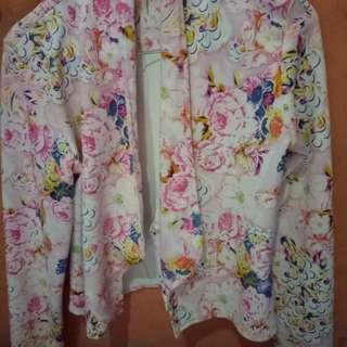 Cardigan motif bunga