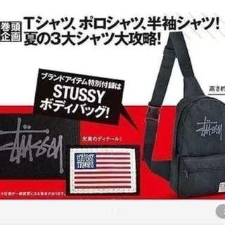日本直送雜誌包stussy肩包