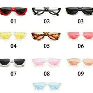 Kacamata retro bentuk semangka