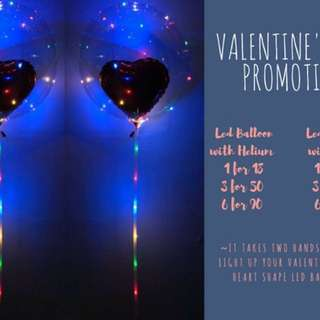 Led valentine day balloon