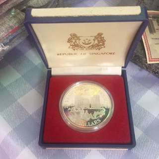 Singapore 1985 $5 Silver Proof 25 Years Public Housing Coin