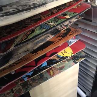 Selling Lot of Used and custom Skateboards