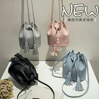 Korean Tassel Drawstring Bag