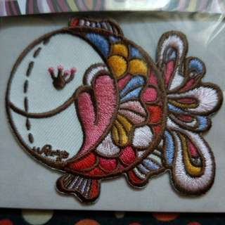 Rainbow Fish Embroidery Badge / Sticker Patch