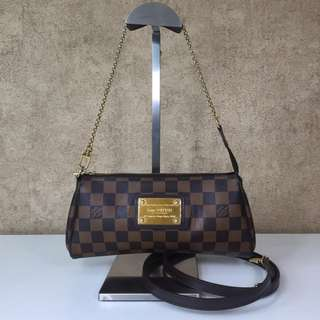 LOUIS VUITTON N55213 EVA CLUTCH DAMIER EBENE