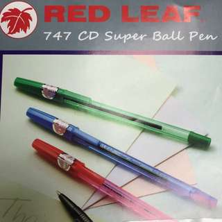 Red leaf 747 CD Super Ball pen
