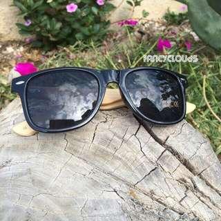 Valentines Day Gift for Boyfriend/Men/BF/Guy/Man Handmade Bamboo Sunglasses in Black