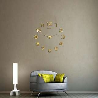 DIY 3D Modern WALL CLOCK sticker(cod available)