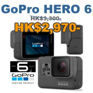 GOPRO HERO6 BLACK 4K ACTION CAMERA 全新行貨(Authorized Dealer)  免費送貨 Free Delivery