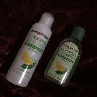 Human Nature Toner & Facial Wash