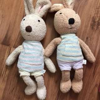 Couple rabbit Plush Toys