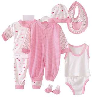 New Born Baby 8 in 1 Rompers