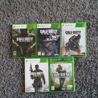 Xbox 360 Games - CALL OF DUTY series