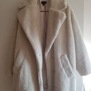 Best offer. BRAND NEW. TOPSHOP WHITE COAT.