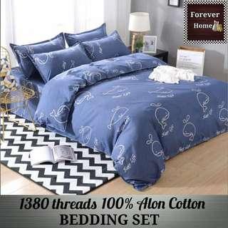 Forever Home床上用品直銷, $120起購買全新升級蘆薈棉1380針床單寢具套裝, 一套包括(床笠, 被套, 枕套) - 款式N1