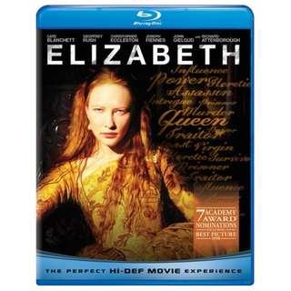 BLU RAY - ELIZABETH (ORIGINAL USA IMPORT)