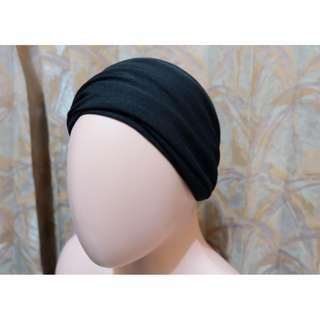 Buff Bandana Masker Ikat Motif Full Black Multifungsi