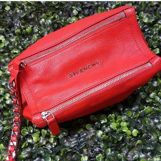 Givenchy Pandora Pouch In Red