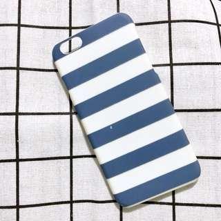 藍白間條手機殼
