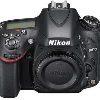 Brand New Nikon D610 DSLR Camera (BODY ONLY)