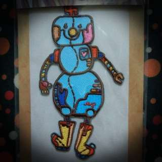 Lady Robot Embroidery Badge / Sticker Patch