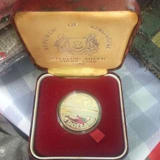 Singapore 1982 $5  Sterling Proof Coin