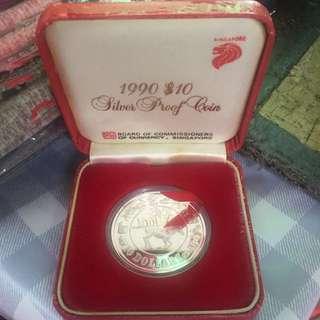 Singapore 1990 $10 Horse Zodiac