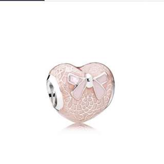 pandora pink lace heart charm