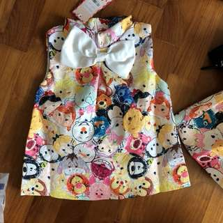 Tsum Tsum top and bottom size 100