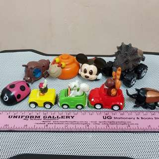 CUTE animal-themed pullback minicars - LOT