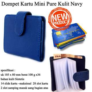 Tempat Kartu Mini Pure biru navy