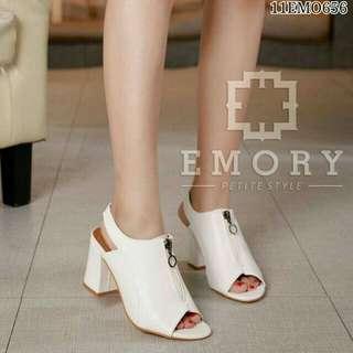 High Heels Putih Emory Replika - Sepatu Hihgheels Kerja Resmi - Sepatu Heel Sleting Putih - Heels Kantor - Sepatu Kerja Resmi Murah Pesta