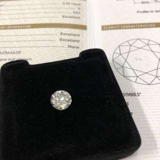 GIA Certified 2.32ct F VS1