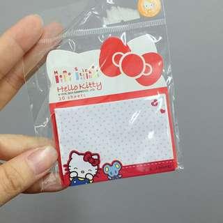 Hello kitty memo紙