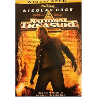 DVD - NATIONAL TREASURE (ORIGINAL USA IMPORT CODE 1)