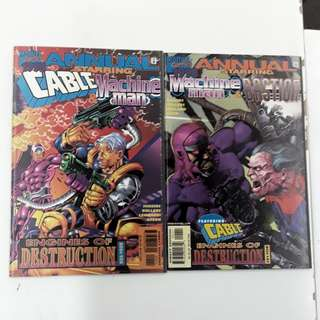 Cable and Machine Man Engines of Destruction Comics Set
