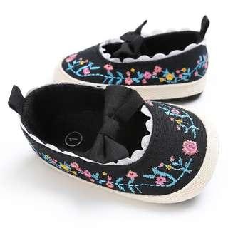 Newborn baby girl shoe