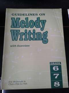 Guidelines on melody writing - grade 6,7,8