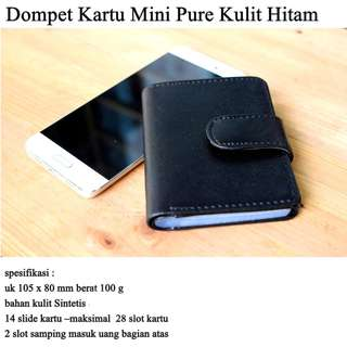 Dompet Mini Kartu Pure black