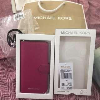 michael kors leather phone case iphone 7 plus