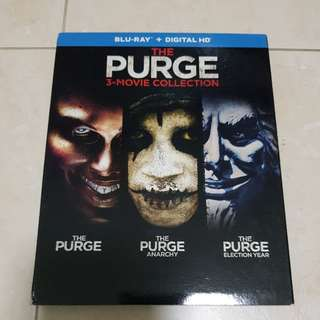 The Purge 3-Movie Collection Bluray with slipcase | 3 discs