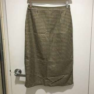 OAK AND FORT plaid skirt