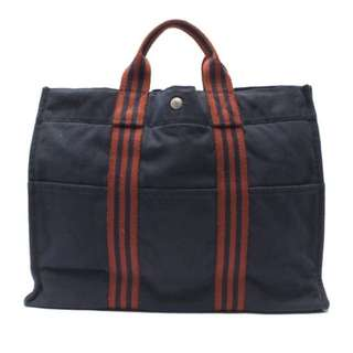 Hermes Canvas Tote Bag Vintage 90%new ❌Porter LV Fendi Celine Prada